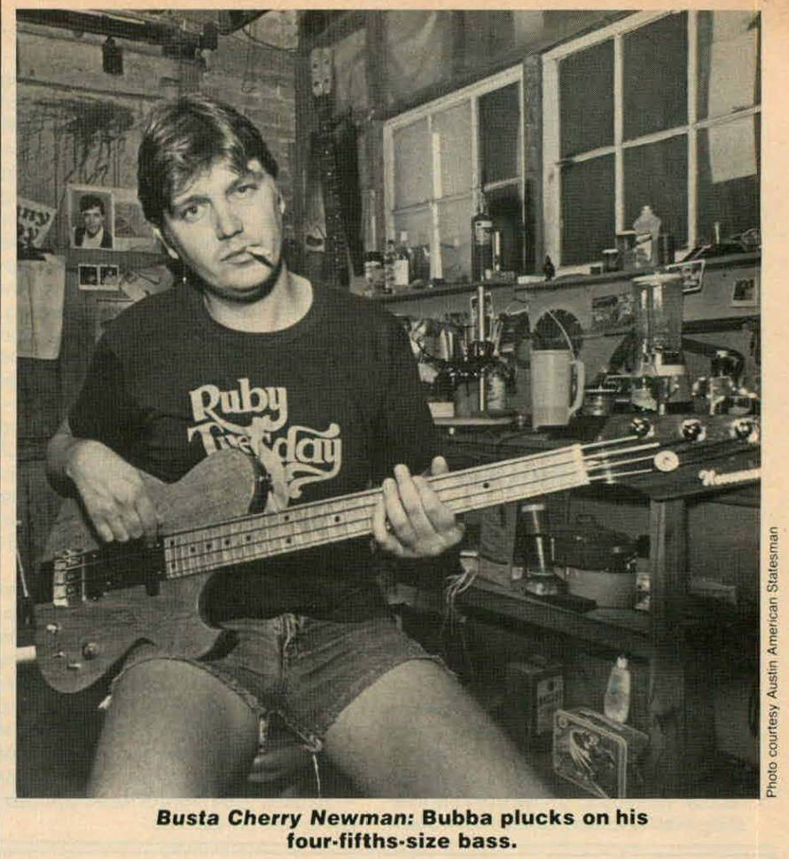 Ted Newman Jones is his Austin shop as featured in Guitar World magazine.