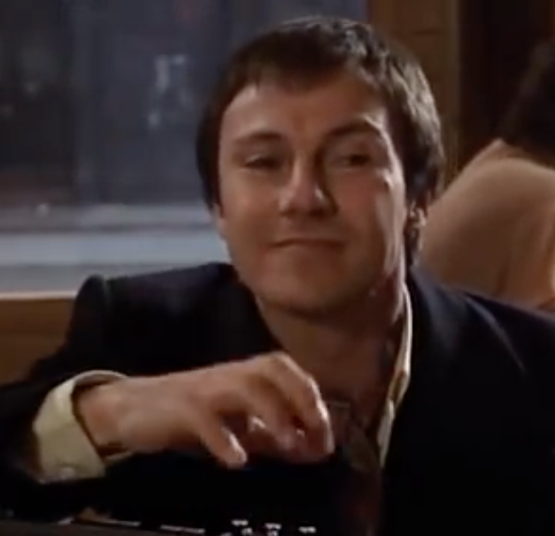 Harvey Keitel, in the scene from Fingers