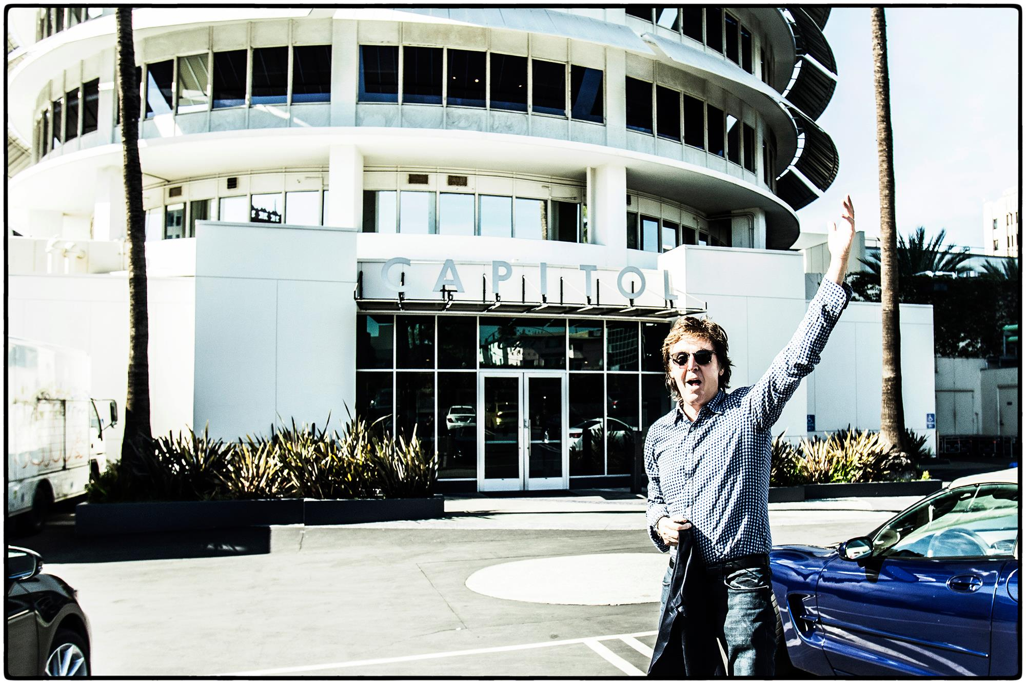 Paul McCartney at Capitol Records (via his Facebook)