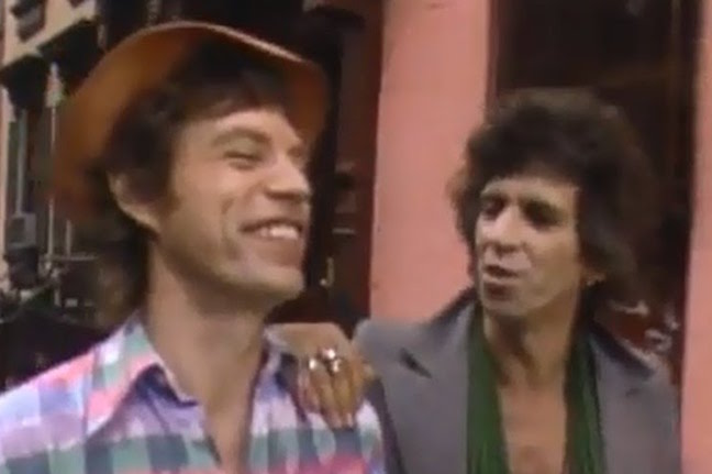 Mick and Keith groovin' to Sonny Rollins