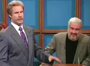 Darrell Hammond's Sean Connery always exasperates Will Ferrell's Alex Trebek