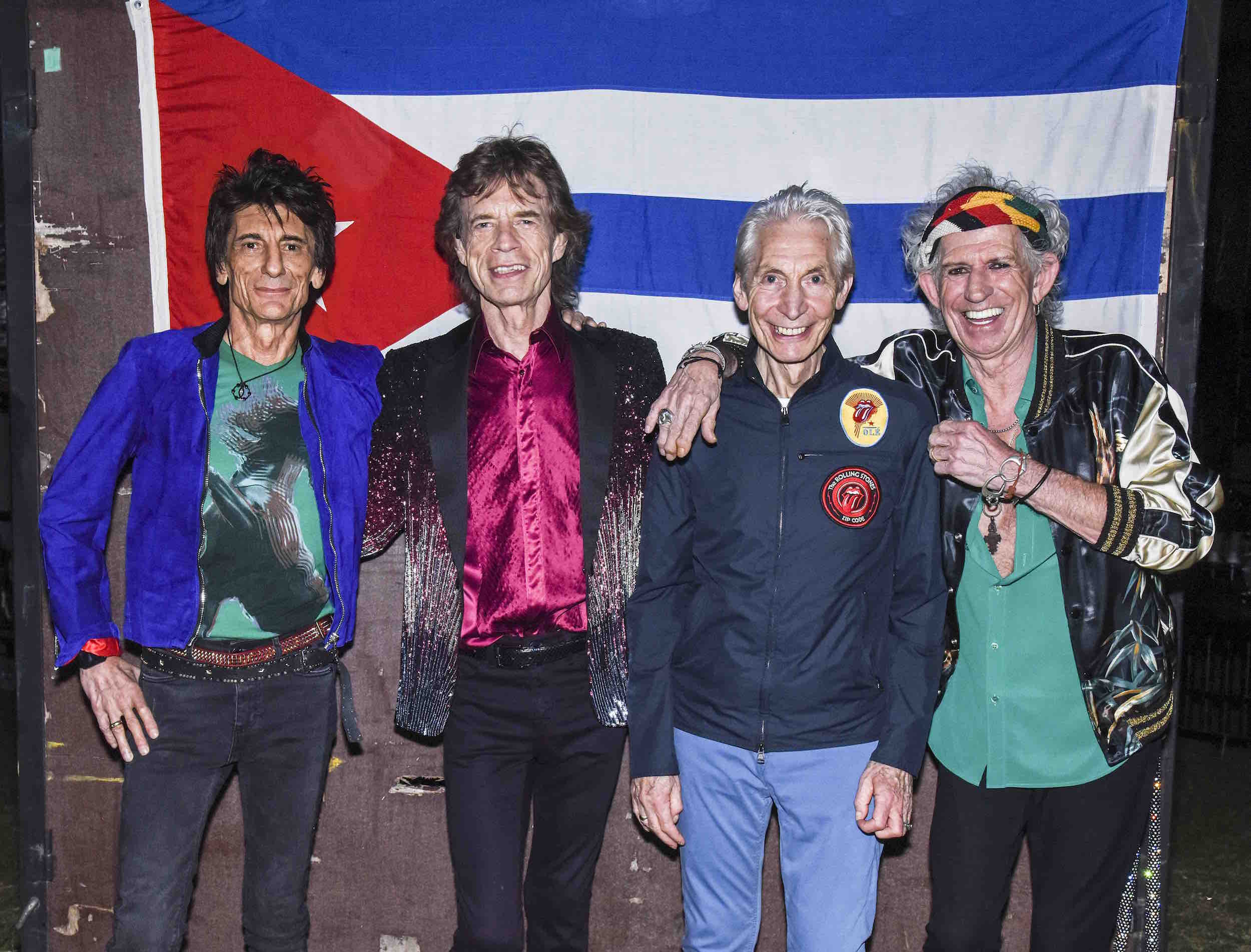 The Rolling Stones backstage before their concert at Ciudad Deportiva on March 25, 2016 in Havana, Cuba. Photo: Dave J Hogan