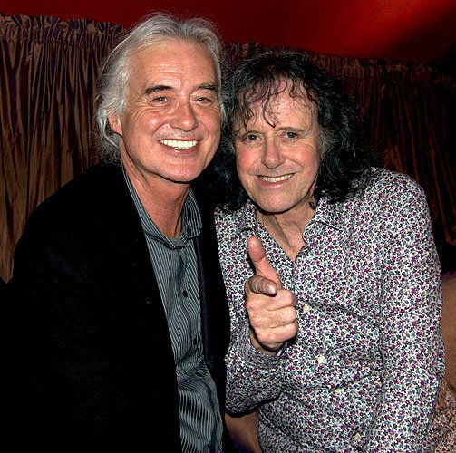 Donovan with Jimmy Page circa 2011 via Donovan's Facebook page