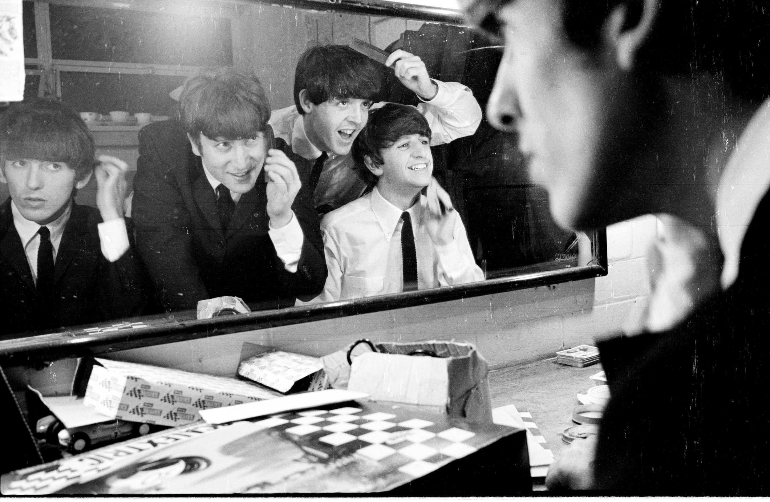 The Beatles backstage at Coventry Theatre, November 1963, courtesy Apple Corps Ltd.