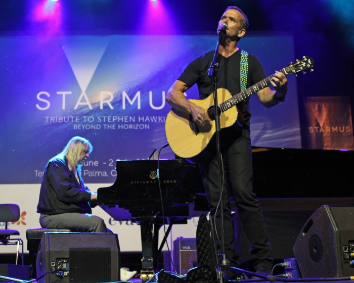 Rick Wakeman and Commander Chris Hadfield at Starmus 2016