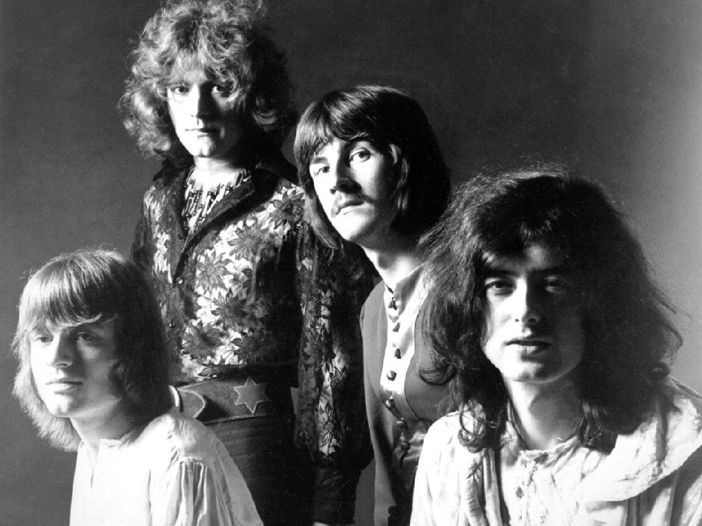 Led Zeppelin in an early promo photo