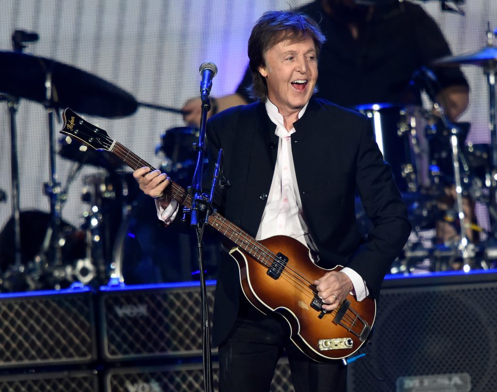 Paul McCartney performs onstage during Desert Trip (Photo by Kevin Mazur/Getty Images for Desert Trip)
