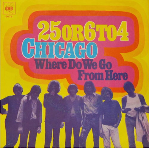 German 45 picture sleeve for the Chicago hit