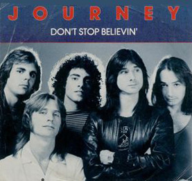"Journey's ""Don't Stop Believin'"" 45 picture sleeve"