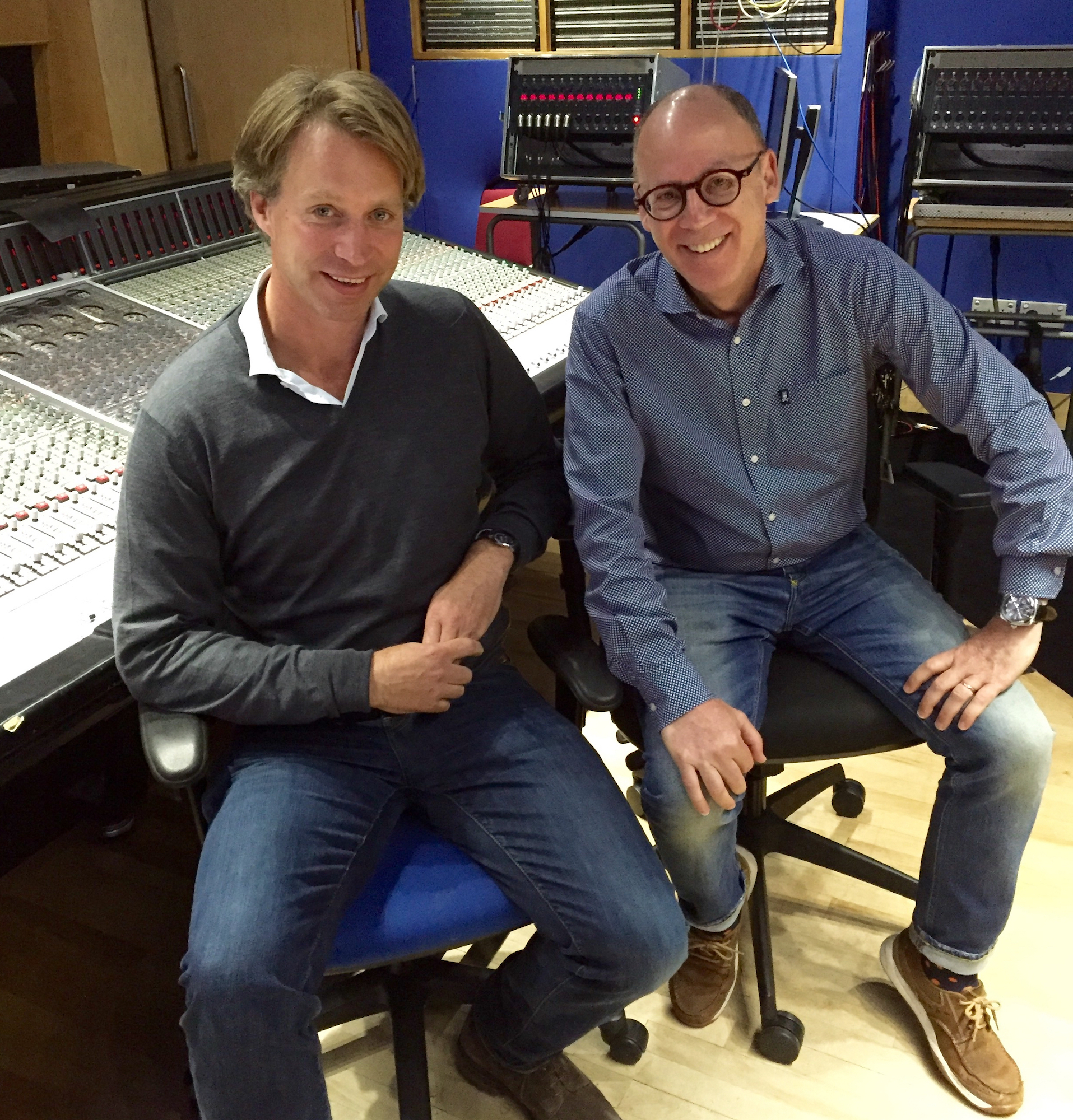 Martin with Best Classic Bands' Founder Greg Brodsky at Abbey Road Studios, October 2016 (From the collection of Greg Brodsky)