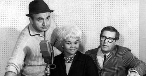 Phil Chess, Etta James and producer Ralph Bass