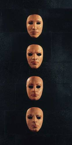 Pink Floyd band masks from 1979, part of the V&A exhibit