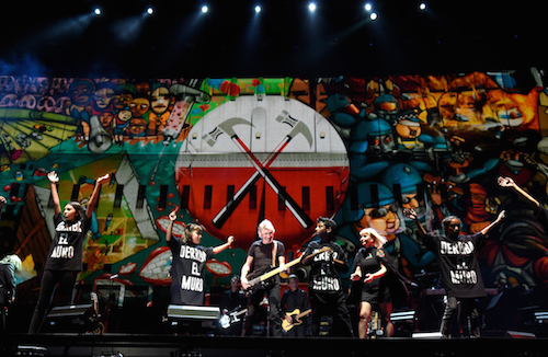 Roger Waters performs during Desert Trip in Indio, California, oct. 9, 2016 (Photo by Kevin Mazur/Getty Images for Desert Trip)