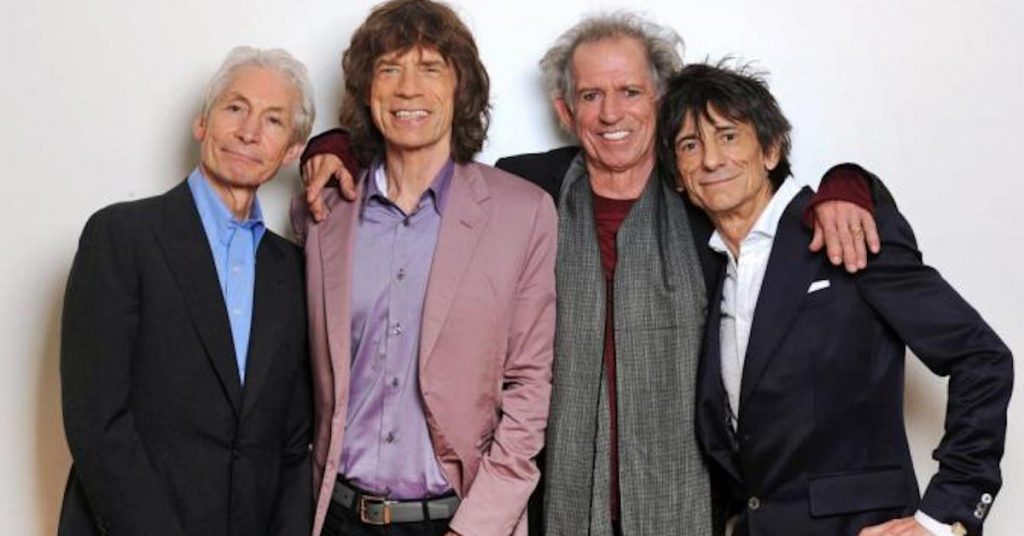 The Stones today (left to right): Charlie Watts, Mick Jagger, Keith Richards, Ronnie Wood