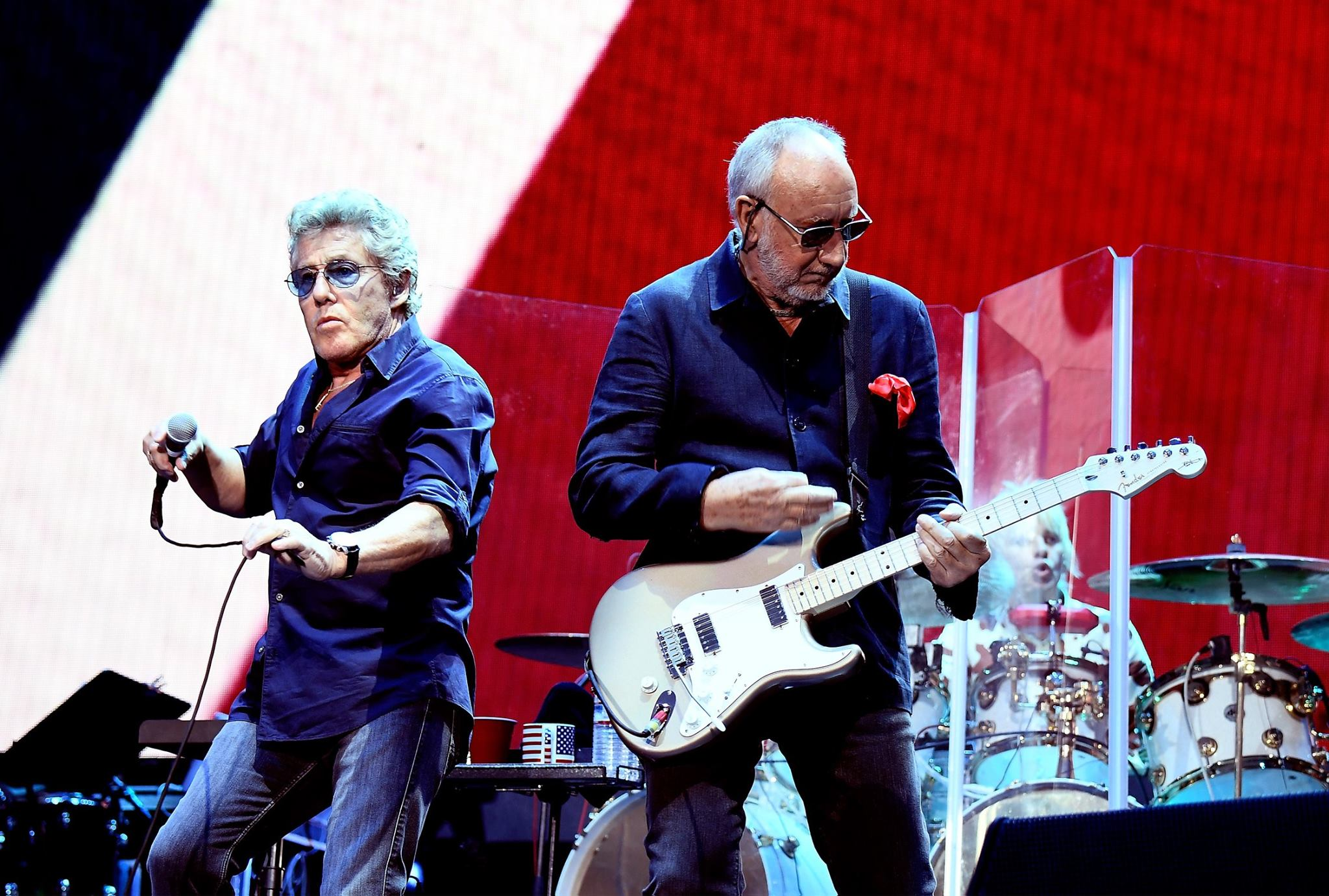 Roger Daltrey and Pete Townshend performing at Desert Trip on October 9, 2016. (Uncredited photo via The Who Facebook page)