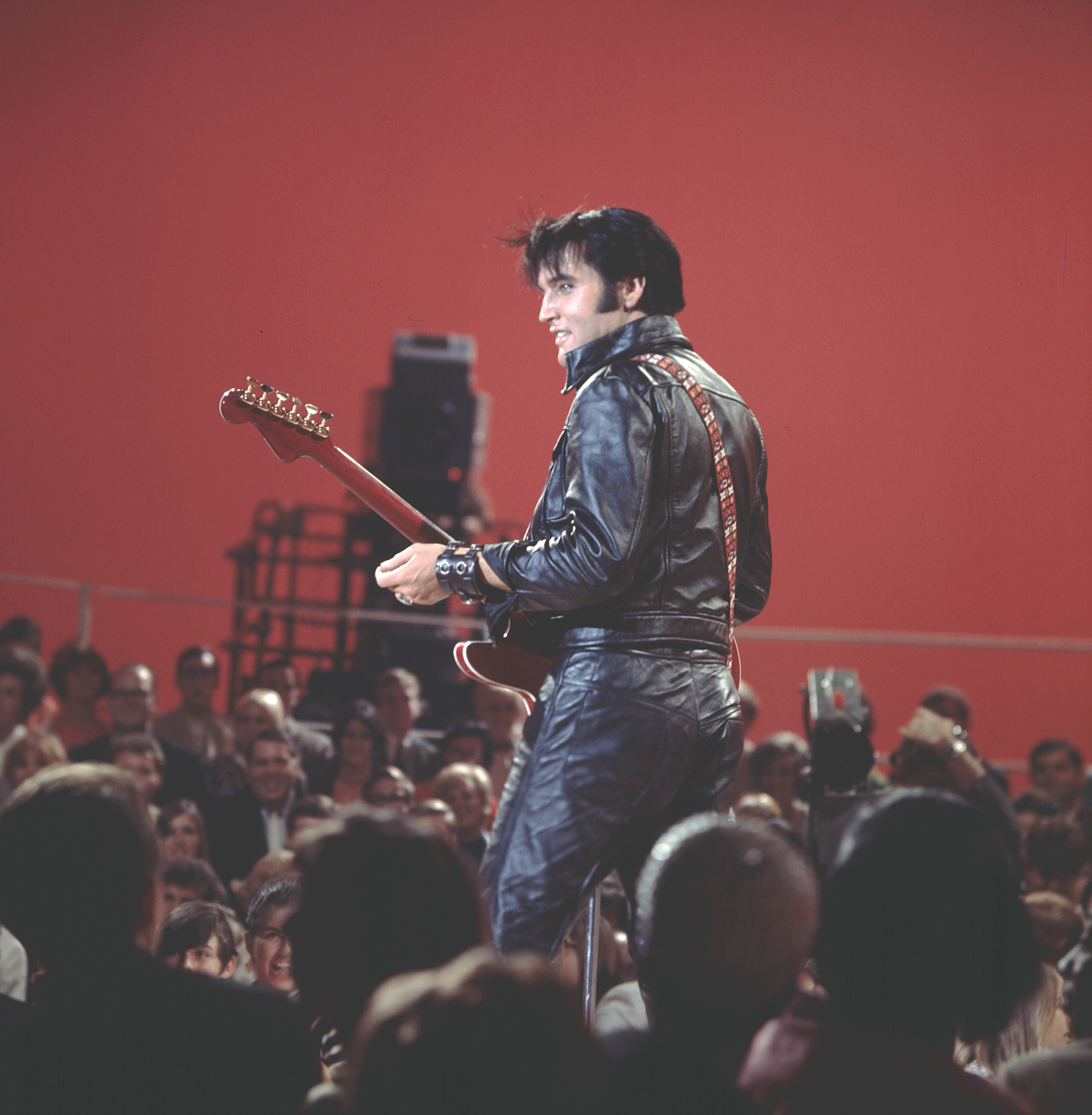 Elvis during the '68 special. (Photo: Courtesy of Graceland)