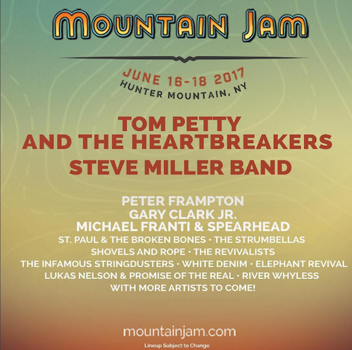 Mountain Jam Reveals Initial Lineup for 2017 Edition