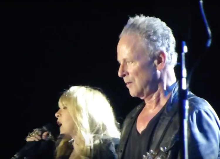Stevie Nicks and Lindsey Buckingham of Fleetwood Mac at CES, Las Vegas, 2014