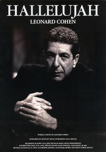 "Leonard Cohen's ""Hallelujah"" sheet music"