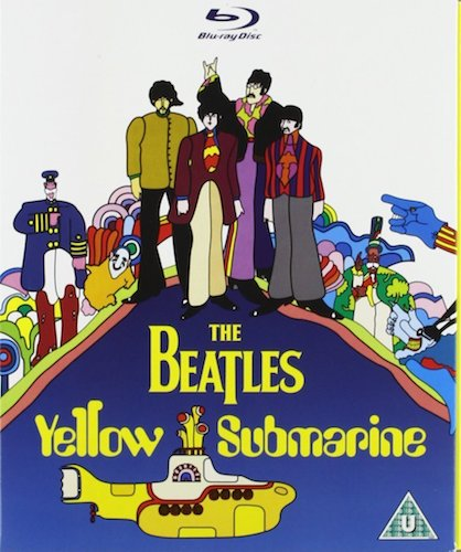 Artwork for the Blu-ray release of Yellow Submarine