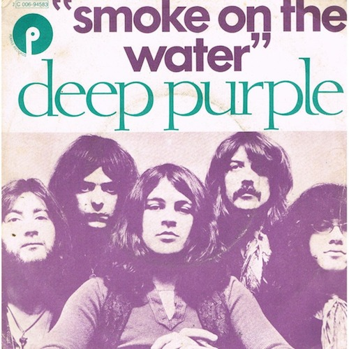 """Smoke on the Water"" 45 picture sleeve"