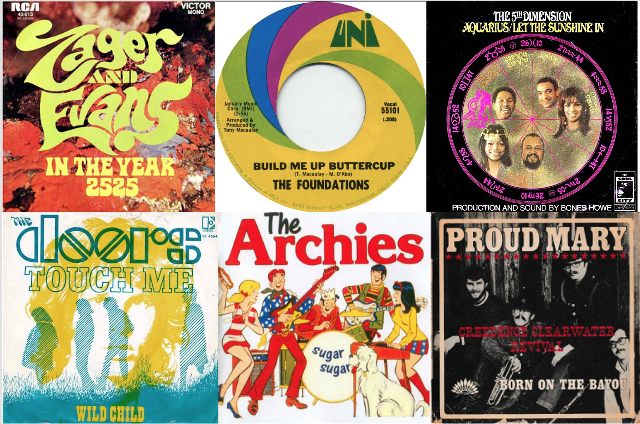top radio hits 1969 look back best classic bands