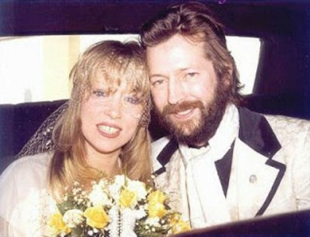 Pattie Boyd And Eric Clapton At Their 1979 Wedding