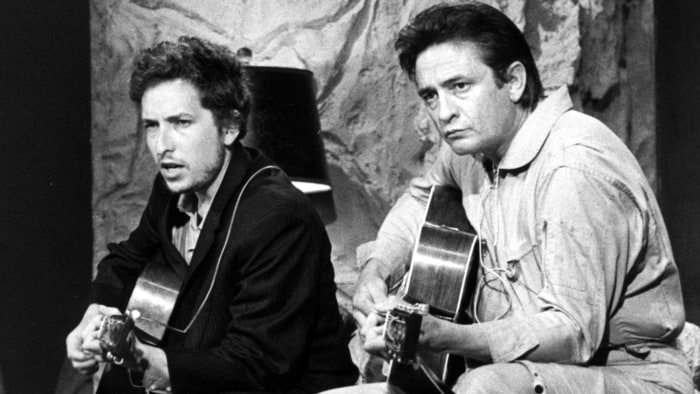 Image result for bob dylan on johnny cash show images