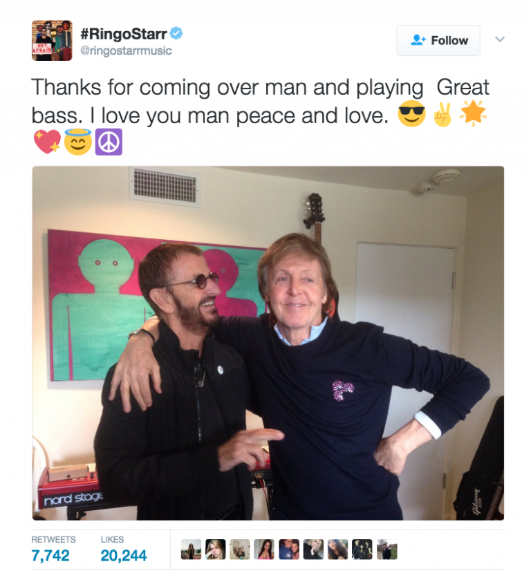 Listen Ringo Starr With Paul McCartney Joe Walsh