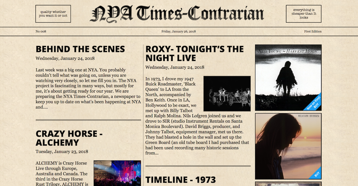 Neil Young Releasing 1973 Roxy Crazy Horse Gigs Best Classic Bands