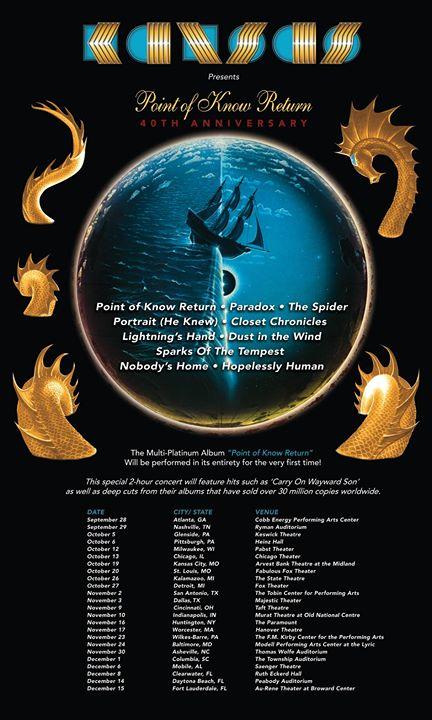 Kansas tour dates in Perth