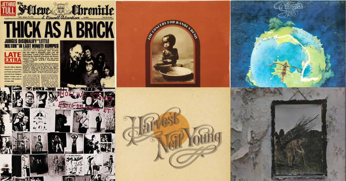 Top Selling Albums of 1972: Look Back   Best Classic Bands