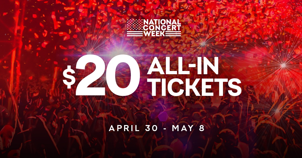 live nation $20 tickets 2020