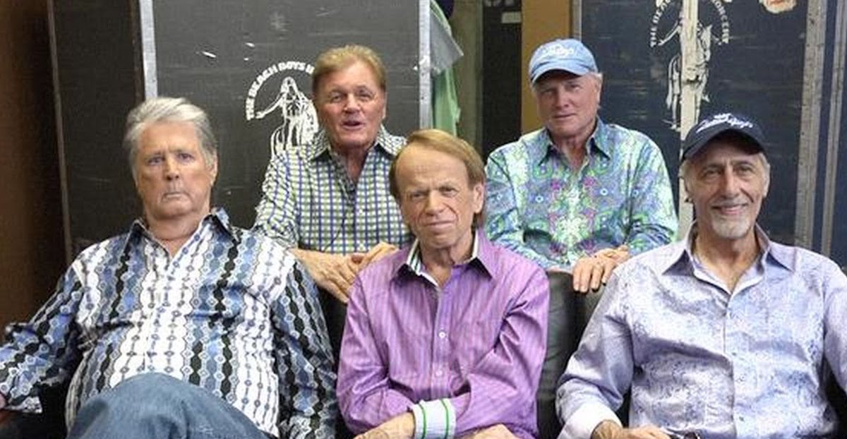 The Beach Boys In 2017 L To R Brian Wilson Bruce Johnston Al Jardine Mike Love David Marks