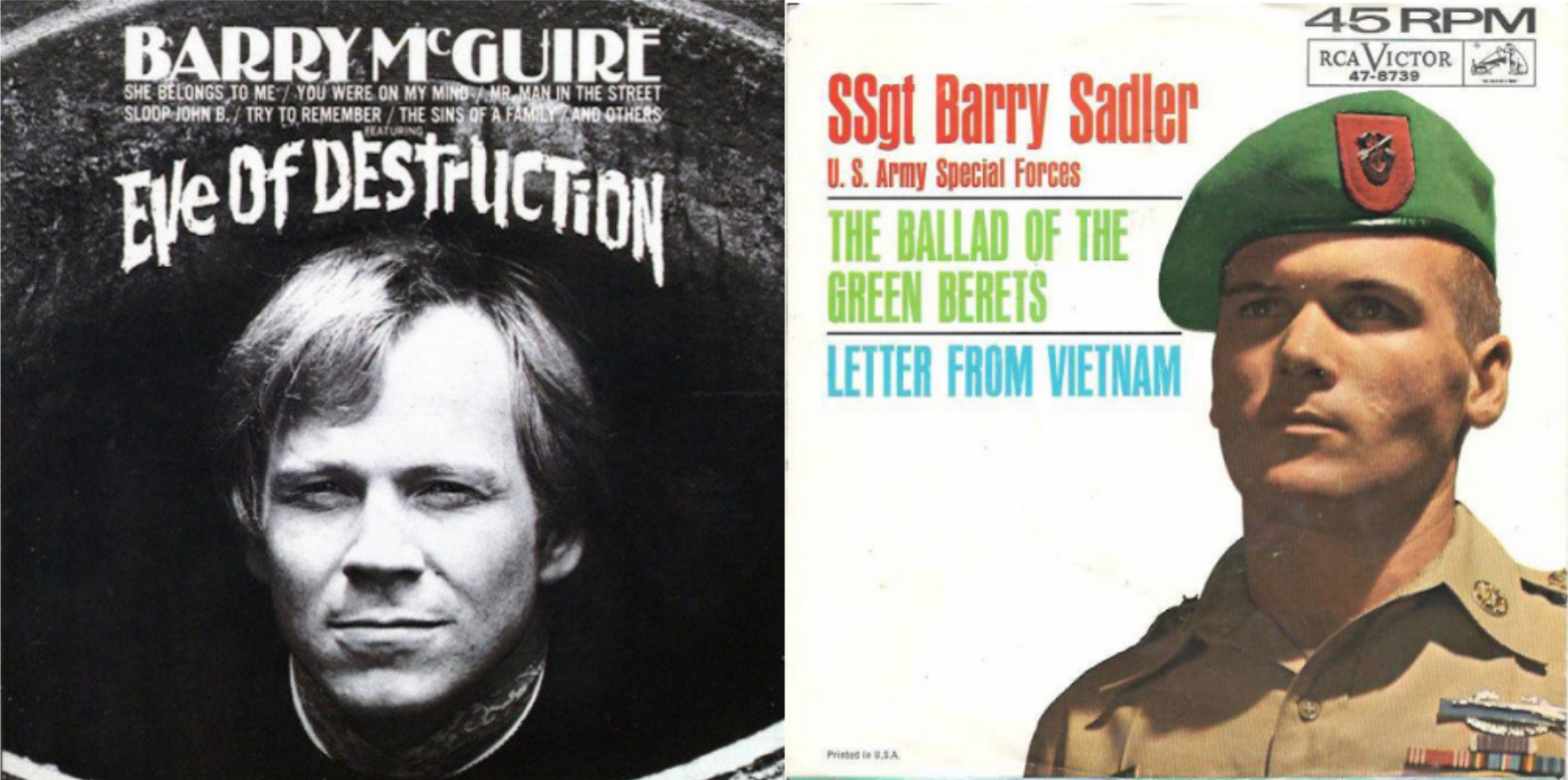 Barry McGuire vs  Barry Sadler: When the News Hit #1 | Best