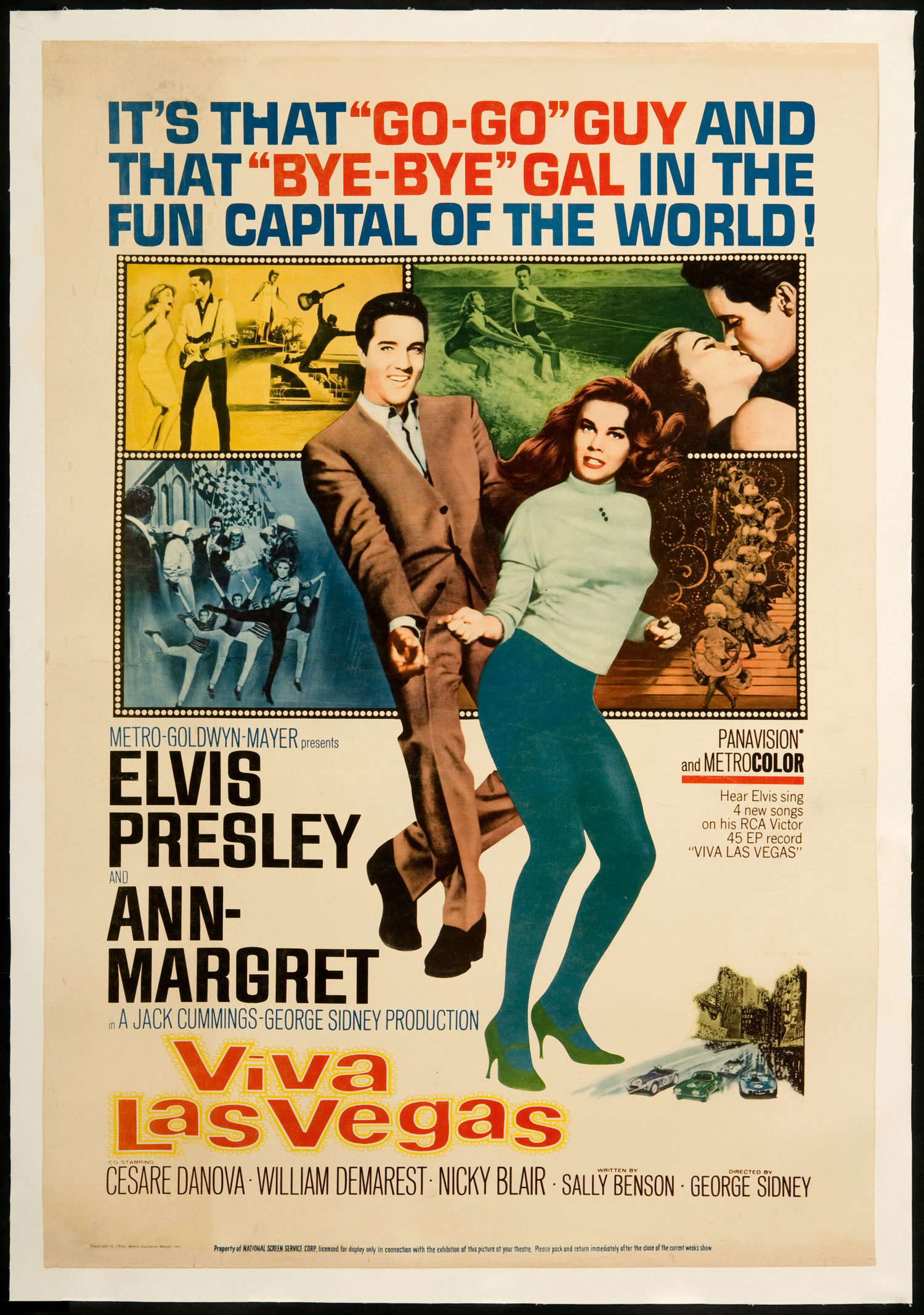 "1964 ELVIS PRESLEY in the MOVIES /""VIVA LAS VEGAS/"" Photo ANN MARGRET PREMIERE"