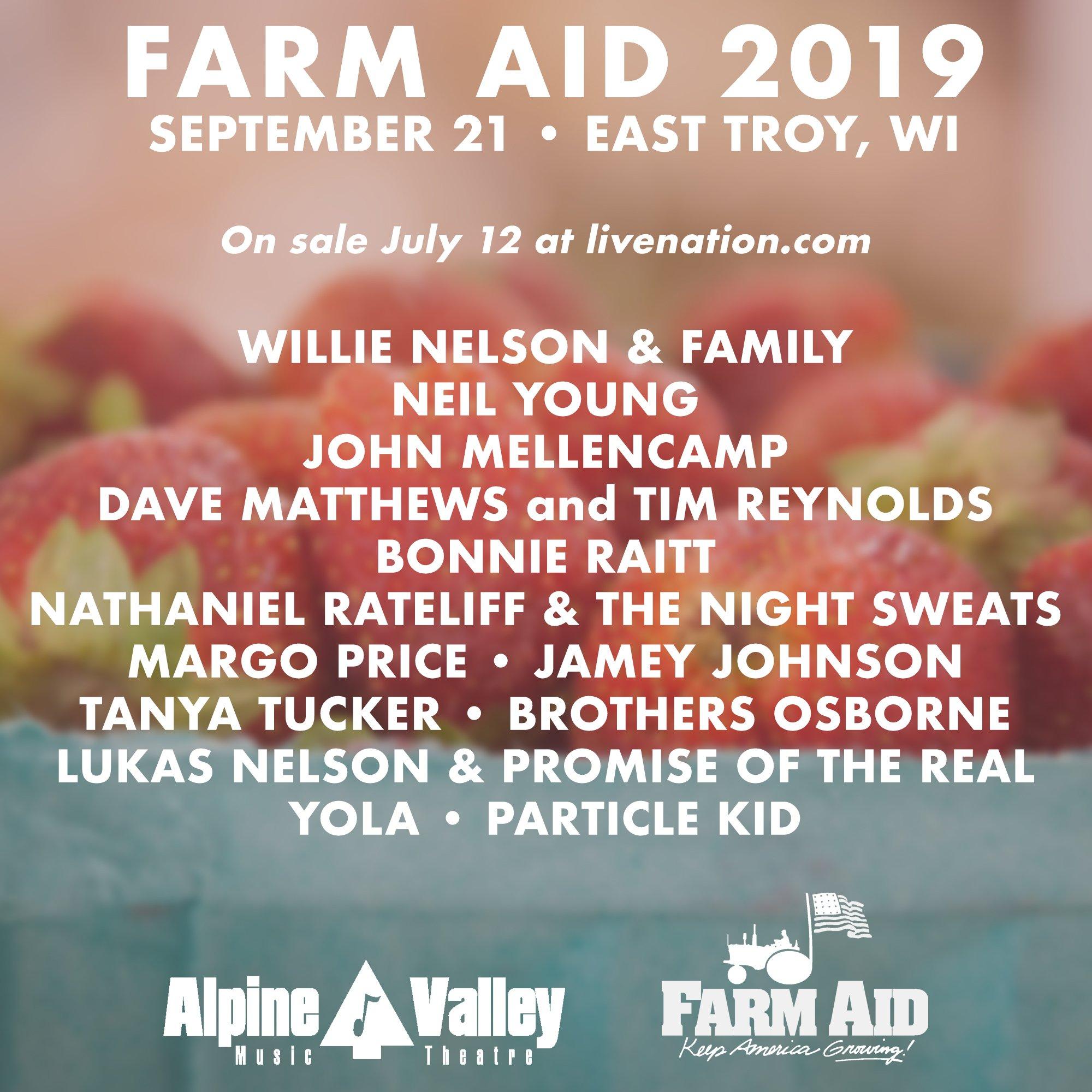 Farm Aid 2019 to Air Live on AXS TV, SiriusXM | Best Classic