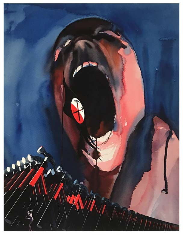 Pink Floyd S The Wall Artist Gerald Scarfe Puts
